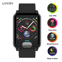 LYKRY ECG Smart Band PPG Bracelet Fitness Blood Pressure Heart Rate Monitor Calories Watch For iphone xiaomi