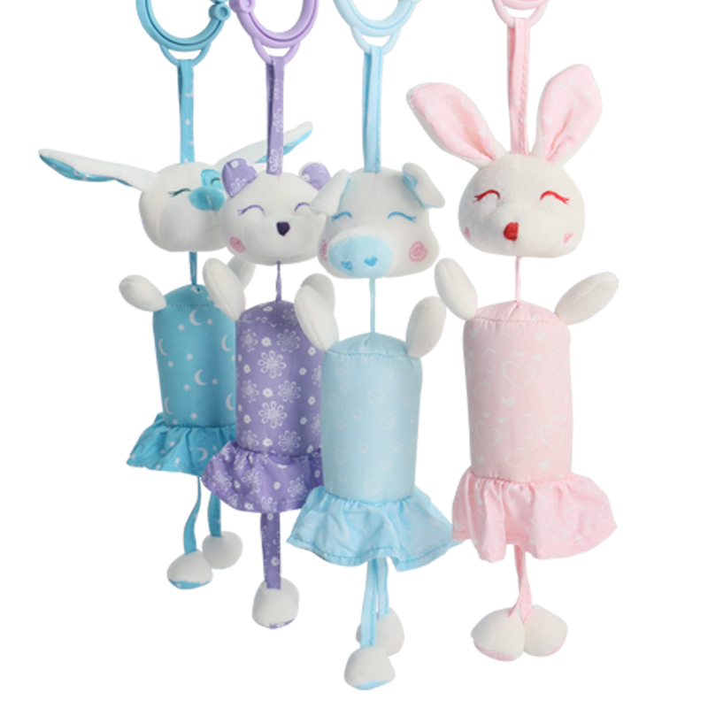 Baby toys 0-12 months rattle bed bell newborn baby mobile toy rabbit pig dog bear animal pendant crib baby stroller toy good
