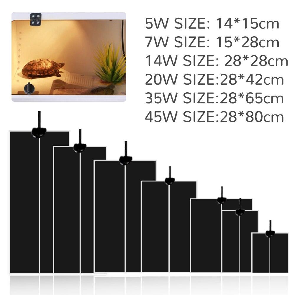 5-45 Вт рептилий тепловой коврик для лазания ПЭТ теплые грелки настраиваемый регулятор температуры коврики рептилии поставки EU/US/UK/AU Plug