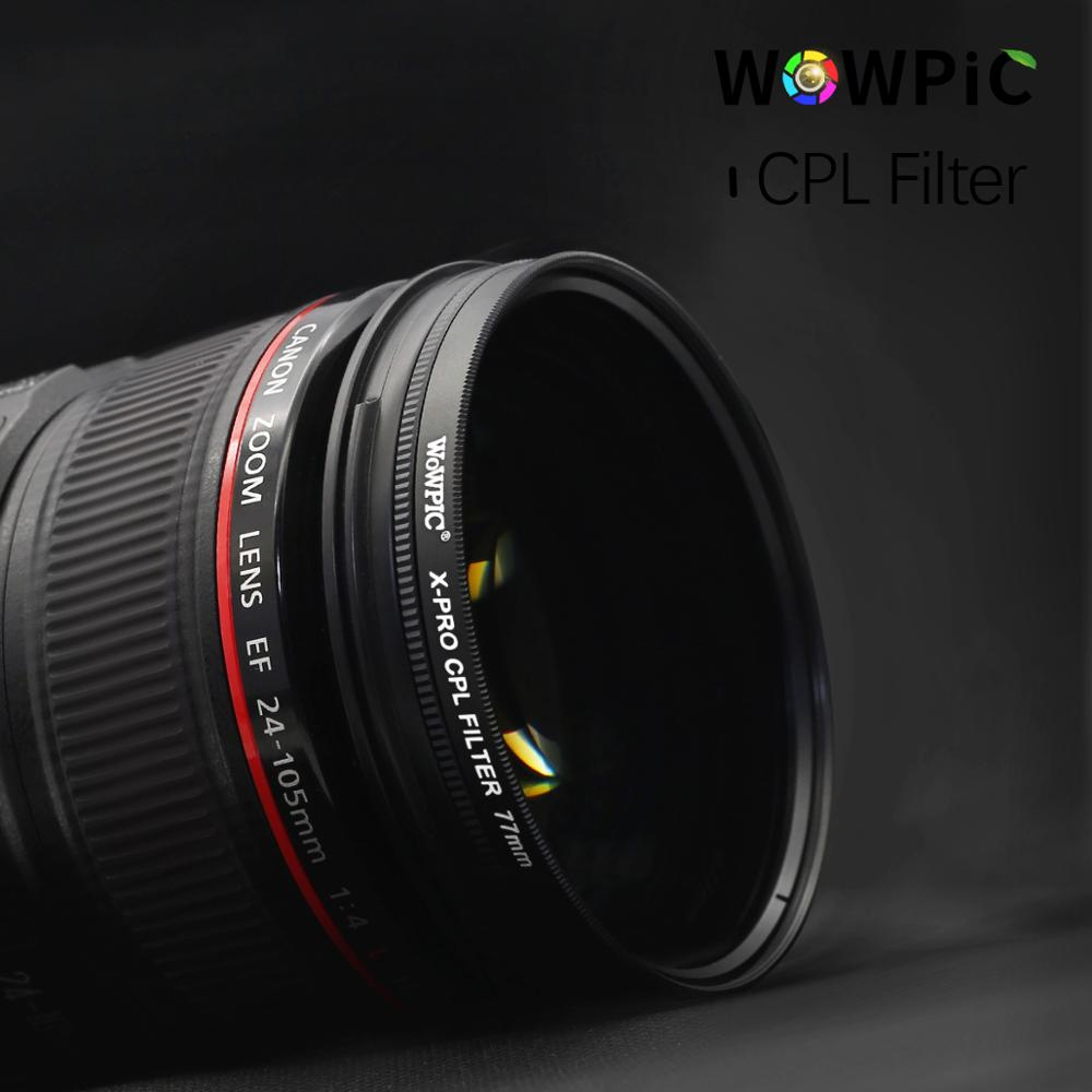 52mm CPL Filter Microfibre Cleaning Cloth ZOMEi 52MM Super Slim Multi-Coated Glass Circular Polarizers Filter for Canon Nikon Sony All Digital//DSLR Camera Lens