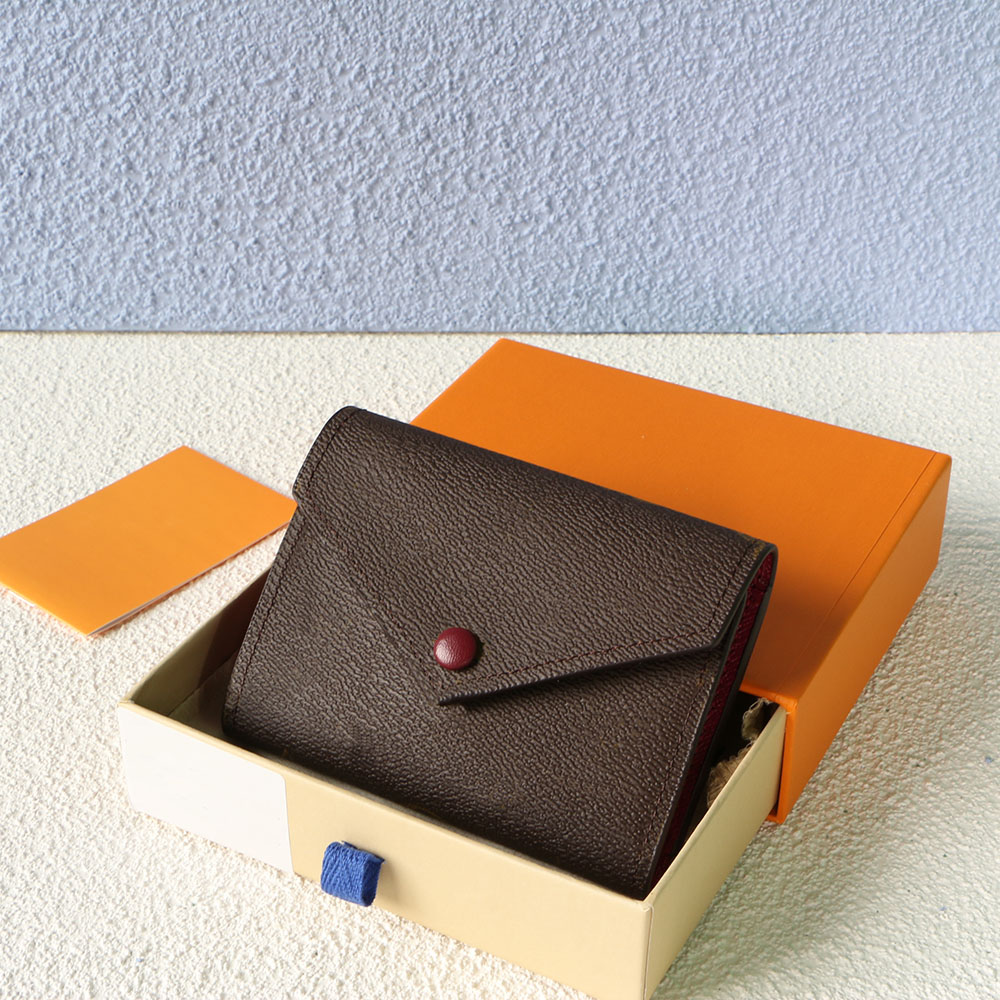 Women's Wallet Credit Card Bag High-End Quality Buckle Coin Purse Luxury Designer Belt Box And Dust Bag 41937AAA