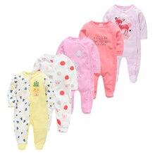 5 uds Pijamas para bebés, Pijamas para niños, niña recién nacida, Pijamas de algodón para bebés, ropa suave transpirable, ropa para recién nacidos, Pjiamas para bebés