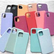 Funda de silicona oficial para móvil, carcasa con logotipo Original para iPhone 11 Pro XR 6X6s 7 8 Plus, 12 Pro XS Max SE 2020