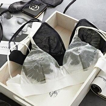 TERMEZY Women sexy Underwear ultra-thin Wireless Lingerie set Fashion Sexy bra set push up bra brief sets lingerie female set 4