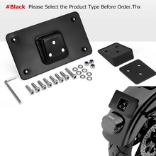Holder License-Plate Black for Big Twins Softail Dyna Sportster XL 3-Holes Mounting-Bracket-Kit
