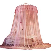 Księżniczka wiatr sufit sąd Dome moskitiera 1 5m zagęszczony łatwy montaż podwójne zasłony łóżko środek odstraszający komary namiot tanie tanio Jednodrzwiowe Uniwersalny Czworoboczny Domu Dorosłych Pałac moskitiera Owadobójczy traktowane Poliester bawełna
