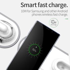 Image 3 - HOCO CW21 bezprzewodowa ładowarka 3 w 1 do Apple Watch 4 3 2 1 szybka ładowarka do Airpods iPhone 11 X XS MAX 8 QI bezprzewodowa podstawka ładująca