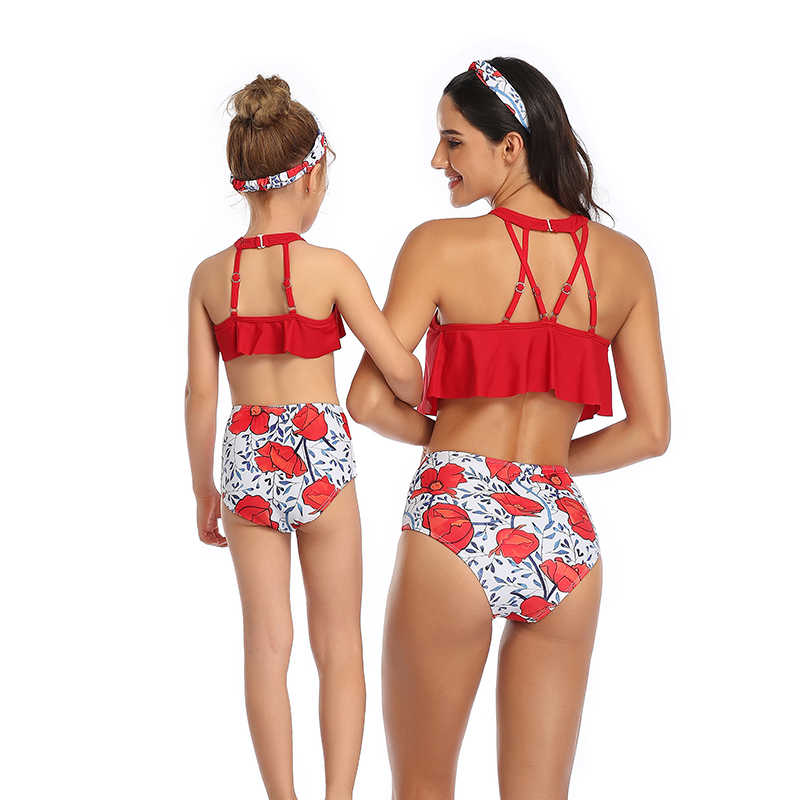 Sexy Hoge Taille Bikini 2020 Plus size Badmode Vrouwen en Meisjes tweedelige badpak voor badpak lichaam pak Bikini set mayo