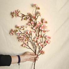 97 см искусственная вишня Весна Слива персик ветка Шелковый цветок дерево декор CD