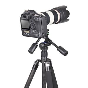 Image 5 - Innorel H40 اثنين مقبض التخميد الهيدروليكي ثلاثية الأبعاد ثلاثي الأبعاد ترايبود رئيس 360 درجة دوران لكانون نيكون DSLR كاميرا