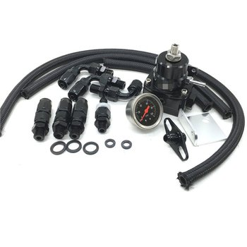 Regulowany regulator ciśnienia paliwa zestaw FRP regulator ciśnienia paliwa z manometrem/6AN wąż/oleju adapter końcówki węża