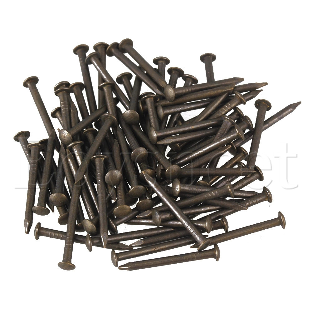 18 X 1 3mm Black Antique Copper Roofing Nails For Furniture Pack Of 50 Roofing Nails Copper Nailsantique Nails Aliexpress