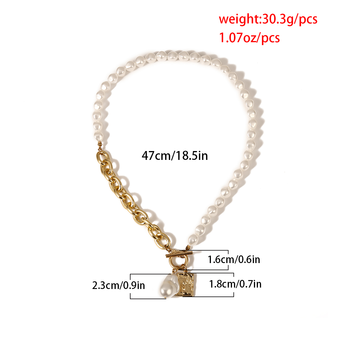 Gothic Baroque Pearl Angel Pendant Choker Necklace for Women Wedding Punk Lasso Big Chunky Thick Lock Chain Necklace Jewelry