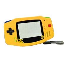 フルセットハウジングシェルカバーケース導電性ゴムパッドボタンG B Aためゲームボーイアドバンス用コンソール