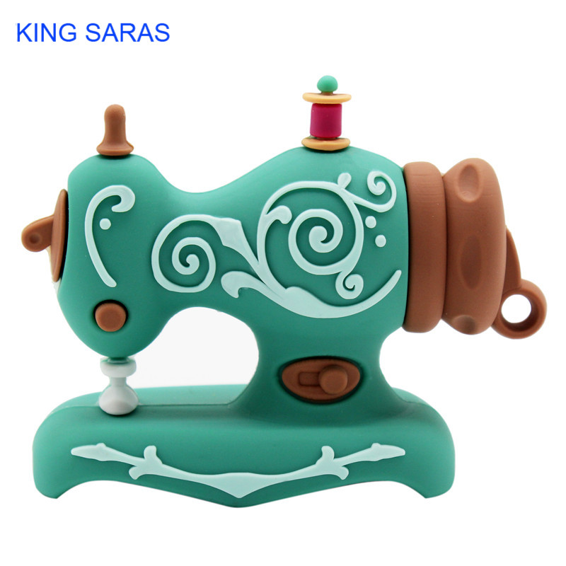 KING SARAS cartoon Beautiful creative Sewing machine model usb2.0 4GB 8GB 16GB 32GB 64GB pen drive USB Flash Drive  Pendrive-in USB Flash Drives from Computer & Office