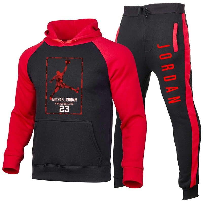 2021new conjunto de hoodie masculino jordan 23 pulôver moletom com capuz de lã moletom de jogging moletom masculino