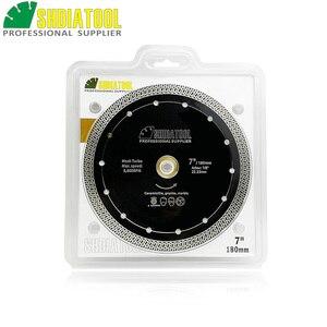 Image 3 - SHDIATOOL 1 шт., диаметр 180 мм/7 дюймов, горячепрессованный спеченный алмазный режущий диск, сетка, турбо алмазный пильный диск, гранит, мрамор, плитка, керамика