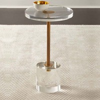 جديد الاكريليك نهاية الجدول غرفة المعيشة طاولة القهوة شفافة مستديرة-في طاولات القهوة من الأثاث على
