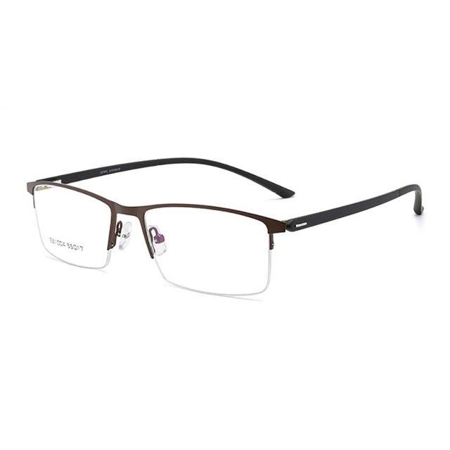 мужские очки в оправе из сплава деловом стиле полуободковые фотография