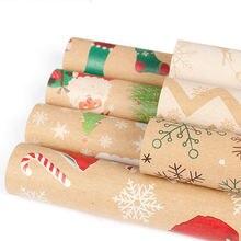 2 шт Рождественская подарочная упаковка бумага для упаковки