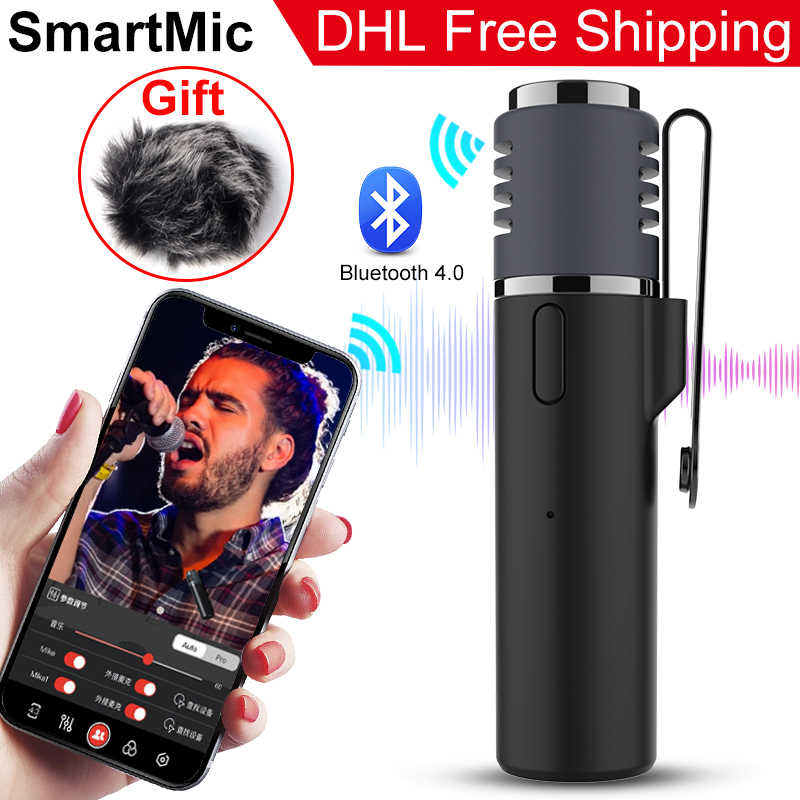 Smartmic Lavalier Etiket Bluetooth Draadloze Microfoon Smartphone Vlog Mic Zealsound Audio Video Real-Time Opname Microfoon