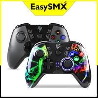 2PC EasySMX ESM-9110 Controller Wireless PC Gamepad per PS3 Xiaomi Android TV Box Joystick del telefono con vibrazione funzione Turbo
