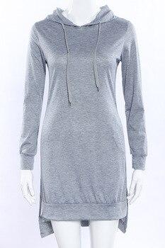European and American style mid-length hoodie 2020 women's pullover long-sleeved fleece hoodie 7