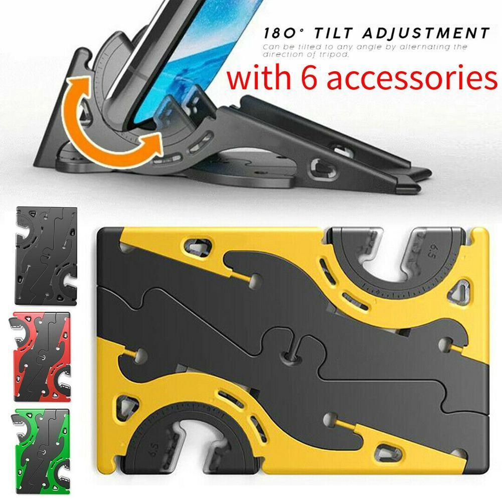Adjustable Foldable Portable Phone Holder Card Type Rotation Stable Home Pocket Stand Phone Universal Tripod Support Conven Nice