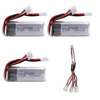 7.4V 300mah battery with charging cable for WLToys F959 XK DHC-2 A600 A700 A800 A430 RC Airplane RTF Spare Parts 2s 7.4v battery
