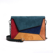 Womens shoulder bag Fashion women leather frosted contrast color crossbody bags for 2018