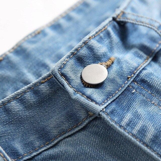 Men's Casual Jeans Men's Casual Denim Straight Jeans Multi-button Trousers Men's Ripped Fashion Jeans Jeans Para Hombre 3