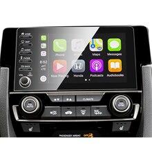 RUIYA araba ekran koruyucu Civic 10th 2019 2020 GPS navigasyon merkezi dokunmatik ekran oto iç aksesuarları korumak