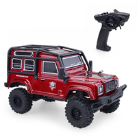 RGT V2 Mini 1/24 D90 Land Rover Off Road Vehicle 4WD RC Crawler Remote Control Car Boys Gifts RTR Version Claret