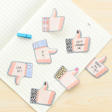 Mohamm 20 Sheets Cute Thumb Up Memo Pads Efficiency Sticky Note Korean Creative Stationary