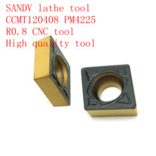 SANDV high quality lathe tool CCMT120408 PM4225 carbide tool, internal turning R0.8 CNC semi-finishing
