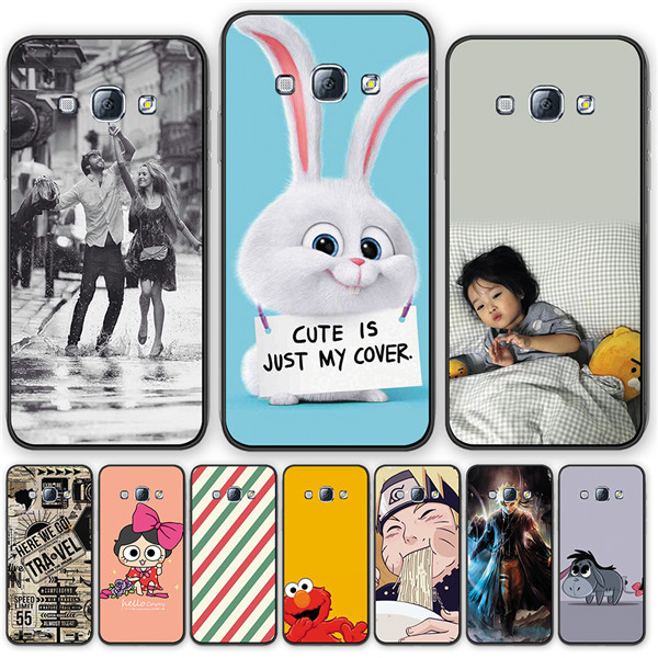Lovely Flower Cover Silicone TPU Phone Case For <font><b>Samsung</b></font> <font><b>A8000</b></font> A8 Cute Animal soft back Phone Case For Galaxy A800s A800S image