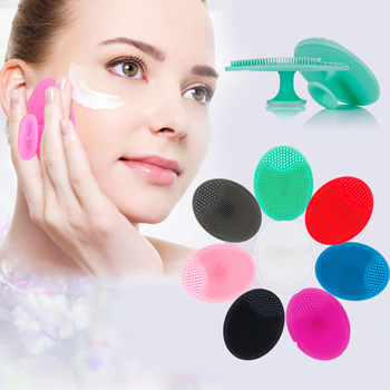 Silica Gel Cleaning Pad Wash Face Brush Facial Exfoliating Brush Skin Scrub Soft Deeply Cleanser Tool TSLM1 1