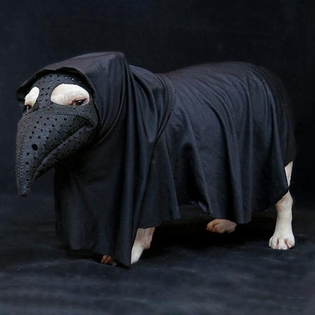 Dog Muzzle Horror Bird Beak Mouth Mask Dog Silicone Luminous Stop Bark Muzzle Halloween Costume Dog Anti-bite Safety Masks 5