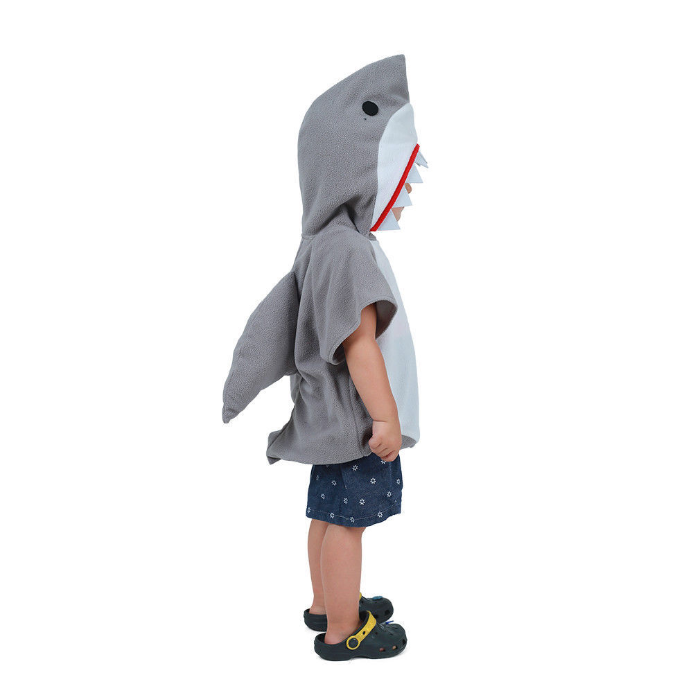 Image 3 - Eraspooky Cute Hooded Shark Cosplay Halloween Costume For Kids Children Animal Toddler Carnival Party Cartoon Fancy Dress Gifts