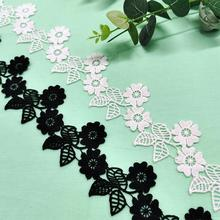 5.5CM water soluble lace spot milk silk embroidery clothing accessories DIY jewelry milk silk water soluble embroidery lace computer embroidery unilateral wave lace barcode clothing accessories