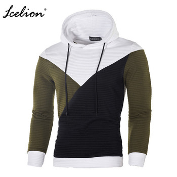 IceLion 2019 Autumn Hoodies Men Sweatshirt Patchwork Slim Fit Cotton Sportswear Fashion Tracksuit Hip Hop Streetwear Pullover