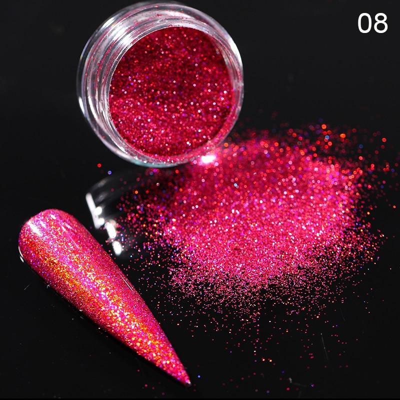 Rose Gold Bubble Mirror Powder Metallic Nail Glitter Holographics Chrome Dust Sparkling Flakes Pigment Manicur Nail Art Decor 7