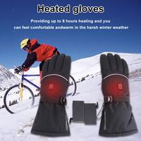 1 Pair Electric Heated Gloves Temperature Smart Control Hand Warmer Skiing Gloves Winter Outdoor Sports Ski Bicycle Motorcycle