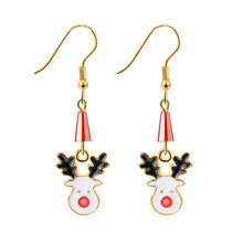1 Pair Christmas Ornaments  Alloy Santa Claus Deer Bell Earrings Party Favor Decoration Gifts for Women 2020