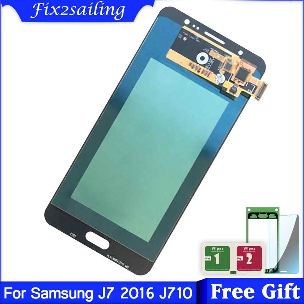 Super Amoled For Samsung Galaxy J710 SM-J710FN/DS J7 2016 J710M LCD Display Touch Screen Assembly Replacement parts for J710H