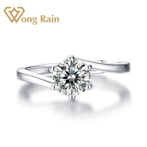 Wong Rain 925 Sterling Silver Real Round