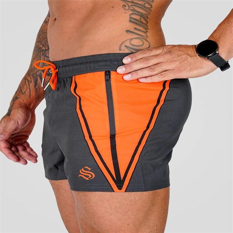 New Fashion Summer Bodybuilding Shorts Men Gyms Joggers Shorts Sweatpants Man Bermuda Shorts Quick Dry Fitness Beach Short Pants