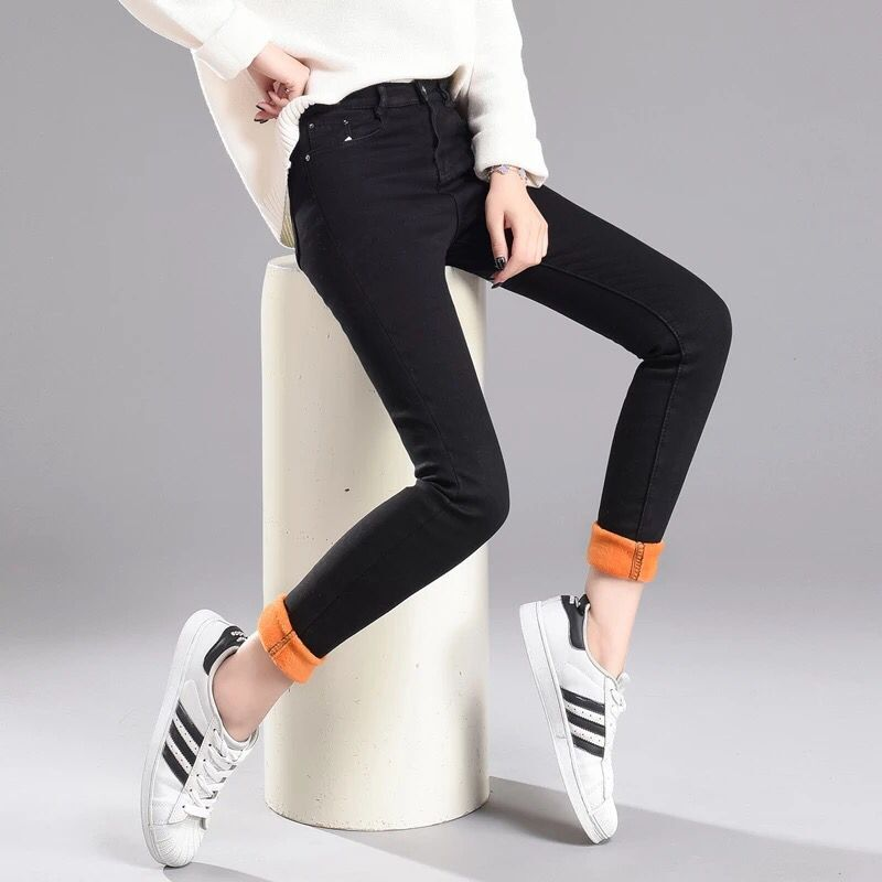 Jeans   Women Thick Velvet Women Winter   Jeans   Women Trousers Warm   Jeans   Pencil Denim Pants Slim Casual Ankle   Jean