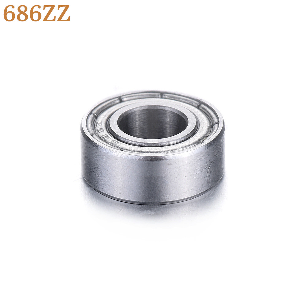 1pc Wholesale Mini Deep Groove Ball Bearings 6x13x5mm Type 686ZZ High Quality Bearing Steel Miniature Bearings