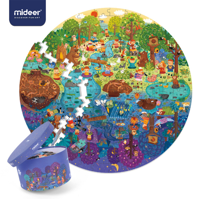 Mideerパズル150個パズルおもちゃ知育玩具ハンド塗装ジグソーパズルボードスタイルパズルボックスセット子供のためのギフト3 6Y